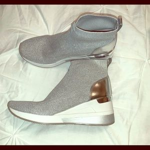 Michael Kors Silver Booties